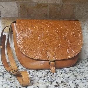 Patricia Nash Tooled Rosolini Saddle Bag